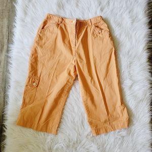J Jill Womens Peach Color Chino Capri Pants